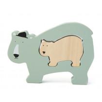 Trixie Wooden Baby puzzle POLAR BEAR