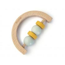 Trixie Halve Circle WOODEN RATTLE mint/yellow