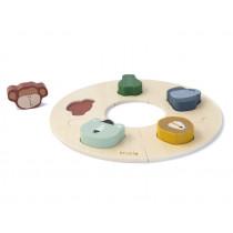 Trixie Wooden Puzzle ANIMALS round
