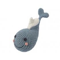 Weegoamigo crochet rattle WHALE