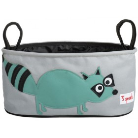 3 Sprouts stroller organizer raccoon