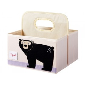 3 Sprouts diaper caddy BEAR