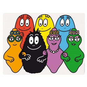 Placemat with the complete Barbapapa family by Petit Jour