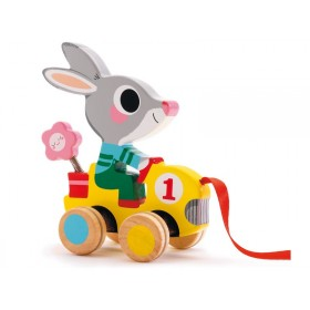 Pull along toy with Roulapic the rabbit by Djeco