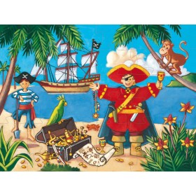 The pirate and his treasure puzzle by Djeco