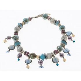FIVA necklace (KS, Murano, Keramik, Swarovski, Perle)