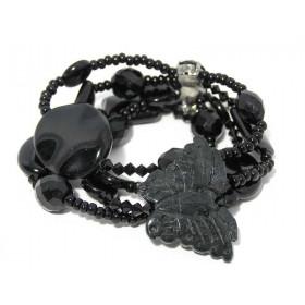 FIVA Bracelet (schwarz 4reihig)