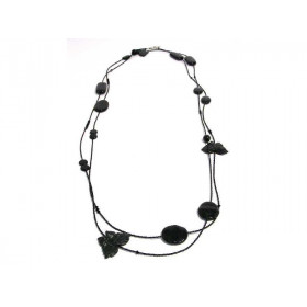 FIVA Necklace (Wickel XL fein schwarz)