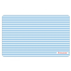 Breakfast plate Blue stripes by krima & isa