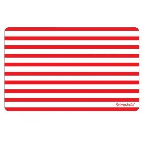 Breakfast plate Red stripes by krima & isa