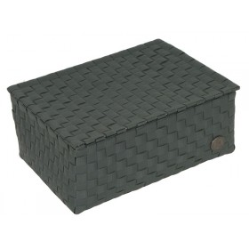 Small box with flaptop in darkgrey by Handed By