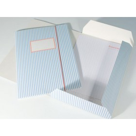 Folder map with blue and white stripes by krima & isa