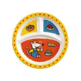 Kids melamine menu plate with Mausi by Petit Jour