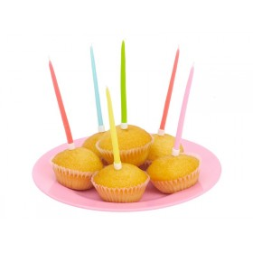 Cake candles in assorted colours by RICE (set of 20)