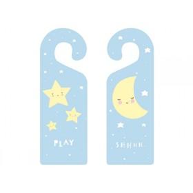 A Little Lovely Company Doorhanger Baby Stars & Moon