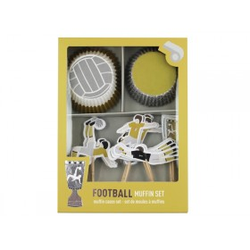 Ava & Yves Cupcake Set FOOTBALL