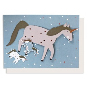 Ava & Yves Greeting Card UNICORN