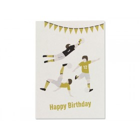 Ava & Yves Postcard FOOTBALL Happy Birthday