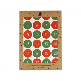 Ava & Yves 24 ADVENT CALENDAR STICKERS red/green