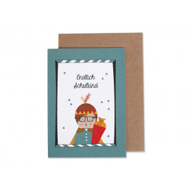 Ava & Yves Greeting Card SCHOOL Boy