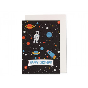 Ava & Yves Happy Birthday Card SPACE