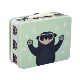Blafre Metal Lunchbox Spectacled Bear LIGHT GREEN