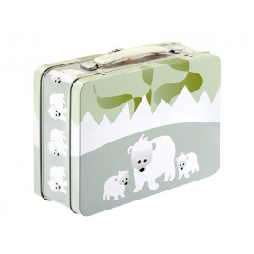 Blafre metal lunchbox polar bear