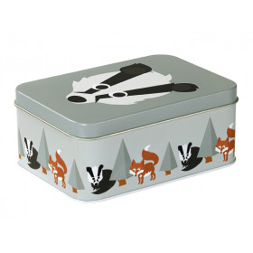 Blafre metal tin badger