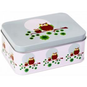 Blafre lunch box owl light blue
