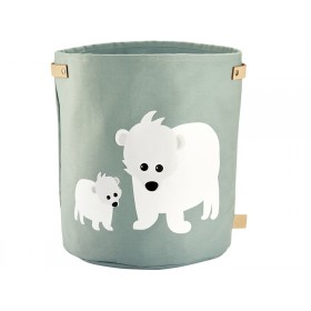 Blafre canvas basket POLARBEAR LARGE