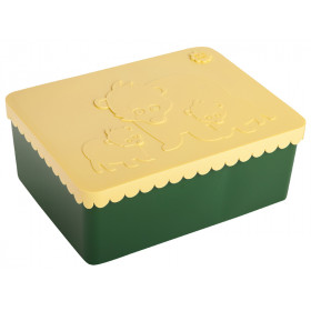 Blafre Lunch Box BEARS dark green / light yellow