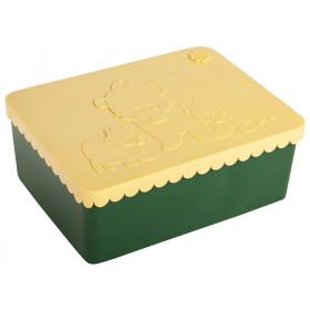 Blafre Lunch Box BEARS dark green / light yellow