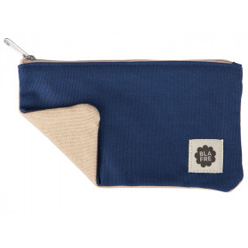 Blafre PENCIL CASE navy blue / beige
