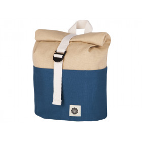 Blafre Backpack ROLLTOP navy blue / beige 1-4 years