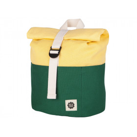 Blafre Backpack ROLLTOP dark green / light yellow 1-4 years