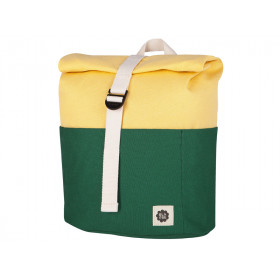 Blafre Backpack ROLLTOP dark green / light yellow 3-7 years