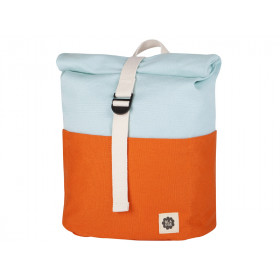 Blafre Backpack ROLLTOP orange / light blue 3-7 years
