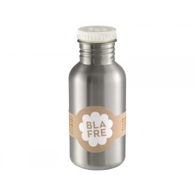 Blafre steel bottle white