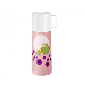 Blafre thermos owl pink