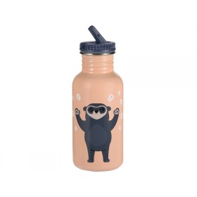 Blafre steel bottle BEAR PEACH