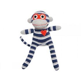 Hickups sock monkey mini blue/grey