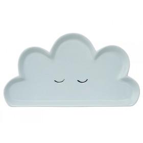 Bloomingville Ceramic Plate Smilla Blue Cloud