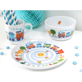 Train crockery set from byGraziela