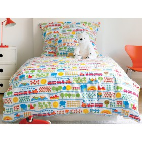 Train kids bedding set from byGraziela