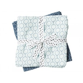 Done by Deer Burp Cloth 2-pack Balloons blue