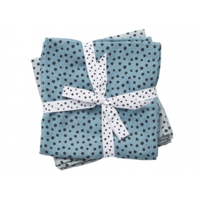 Done by Deer burp and swaddle cloth 2-pack Happy dots blue