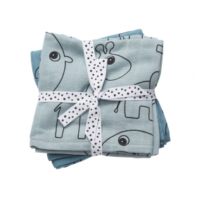 Done by Deer burp cloth 2-pack Contour blue