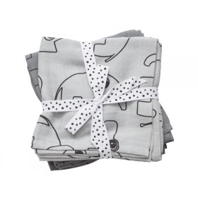 Done by Deer burp cloth 2-pack Contour grey