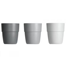 Done by Deer Yummy mini mug set of 3 grey tones