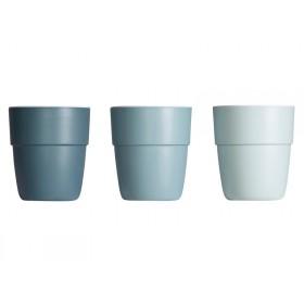 Done by Deer yummy mini mug set of 3 blue tones